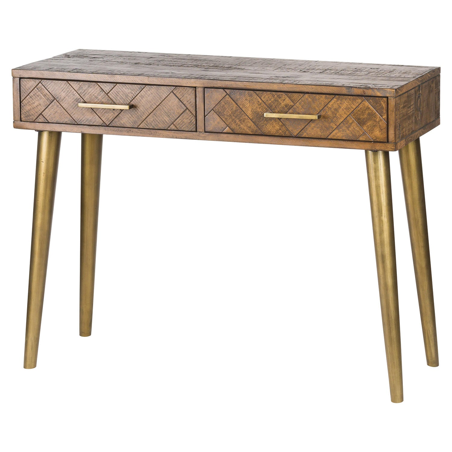Havana Gold Two Drawer Console Table