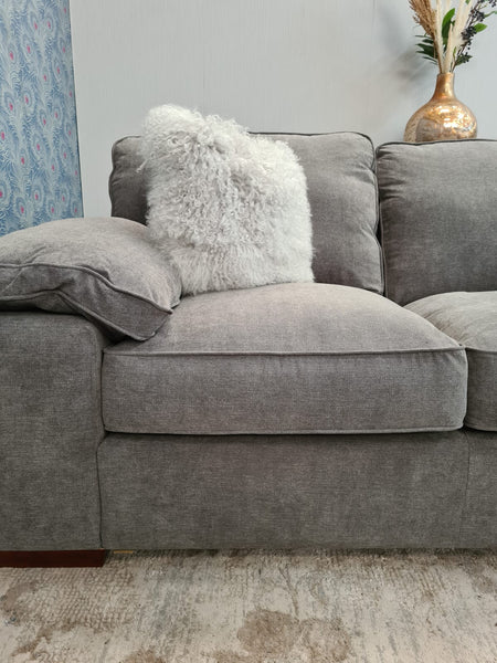 Cassie Corner Chaise in Kiera Pewter (Left and Right Hand Facing Available)