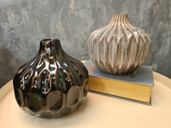 Phoenix Set of 2 Stoneware Vases