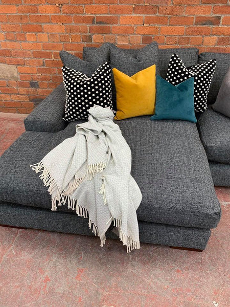 Arriving December! - The Champ Collection Corner with Reversible Chaise in Barley Graphite