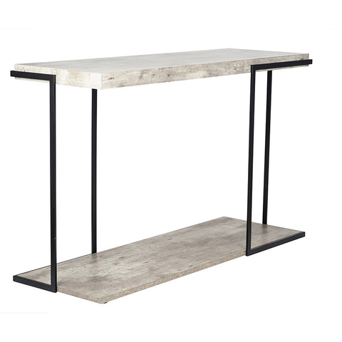 Jetson Collection Concrete-Effect Console Table