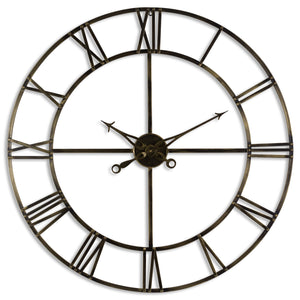 Antique Brass Skeleton Clock (2 Size option)