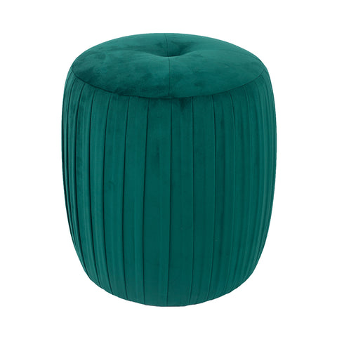 Layla Cylinder Velvet Pouffe - 3 Colour options