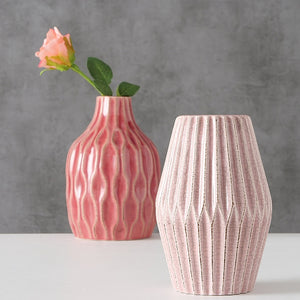 Set of Two Stoneware Vases
