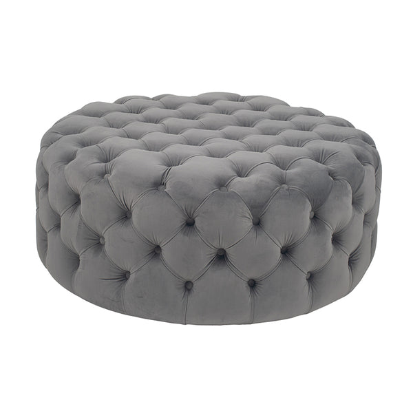 Lily Buttoned Pouffe - (Blush, Grey, Black, Raspberry)