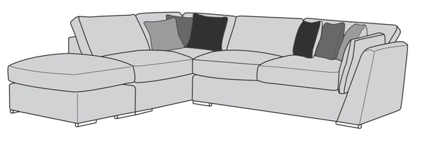The Lola Collection Corner Chaise & Footstool (Left Facing Corner)