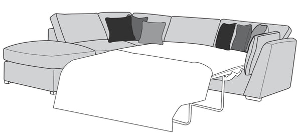 The Lola Collection Corner Chaise & Footstool Sofabed (Left Facing Corner)