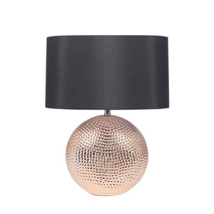Mabel Lamp in Copper with Black Shade