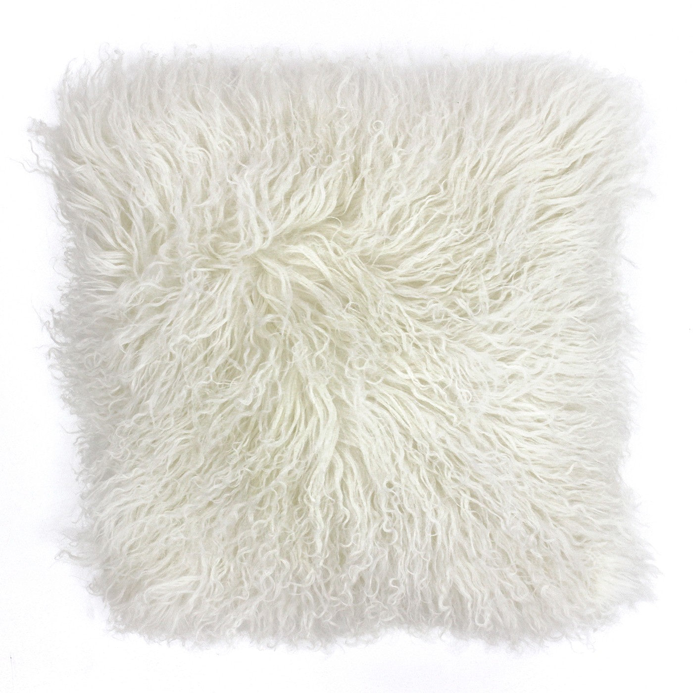 Mongolian Fluffy Wool Cushion - Pristine