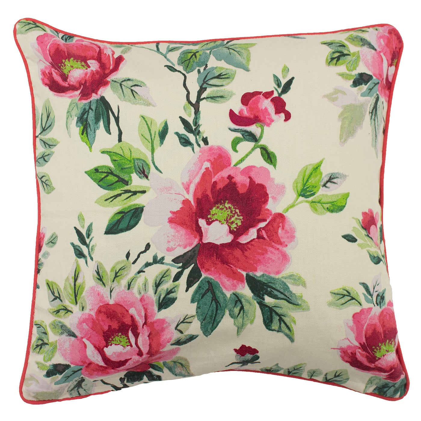 Peony Print Cushion (Colour Choice)