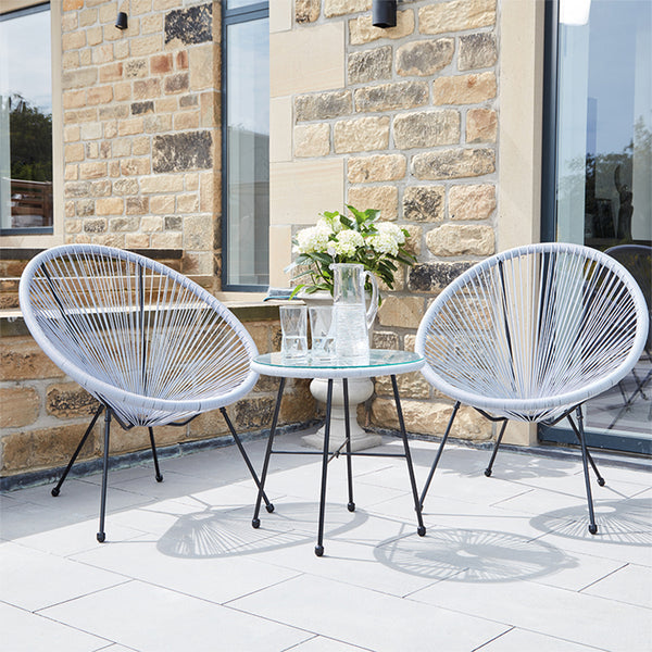 Dune Outdoor Bistro Furniture Set - 4 Colour option