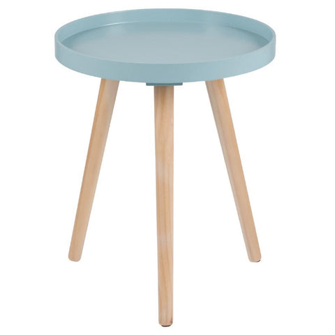 Petite Round Scandi Side Table - Blue