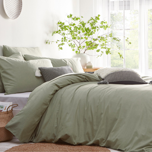 Stonehouse Bedding Set in Sage - 100% Cotton