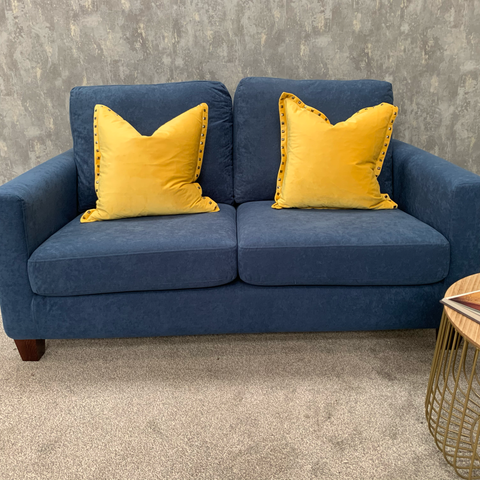 Bailey Collection Compact 2 Seater + Yellow Scatter Cushions