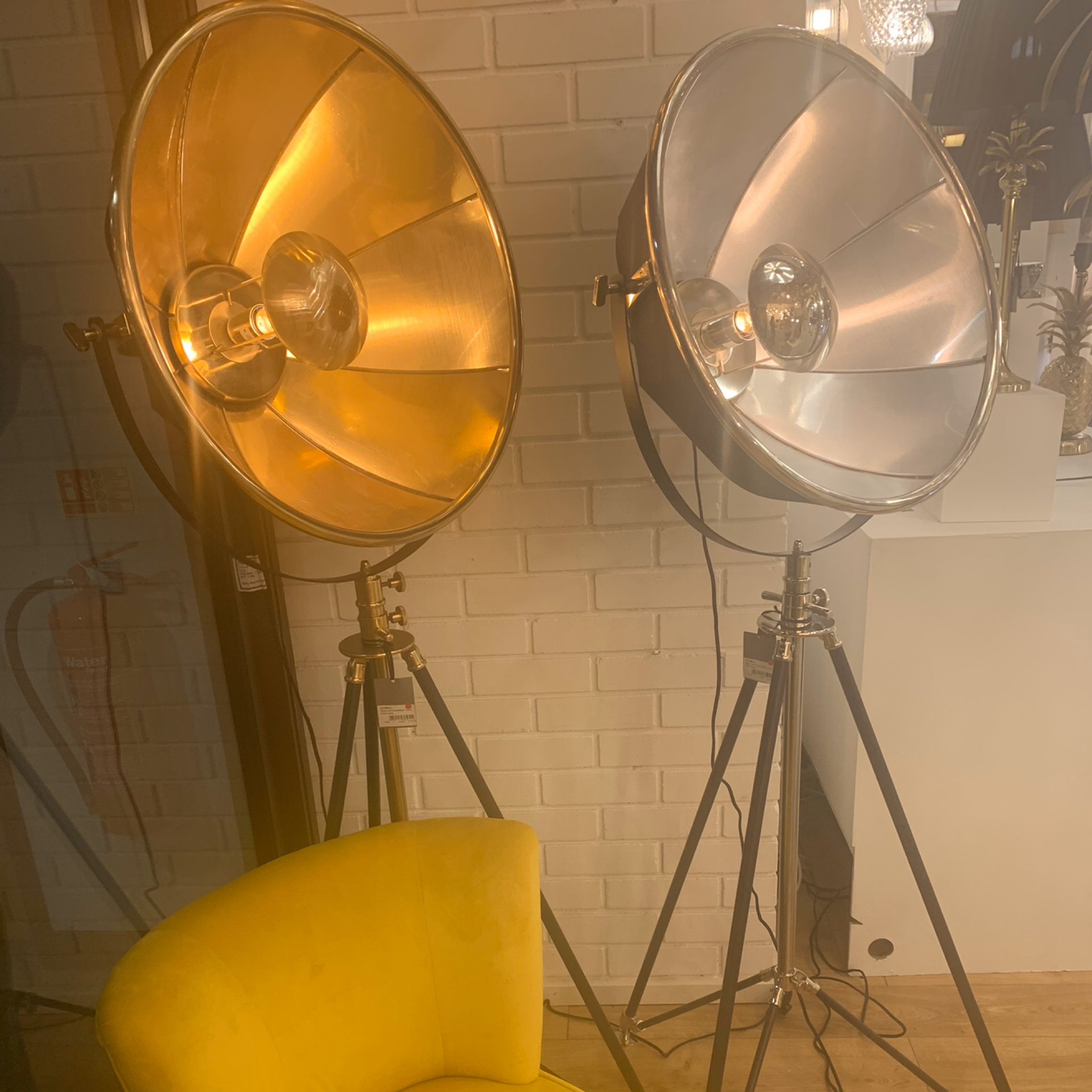Hollywood Tripod Floor Lamp - Gold