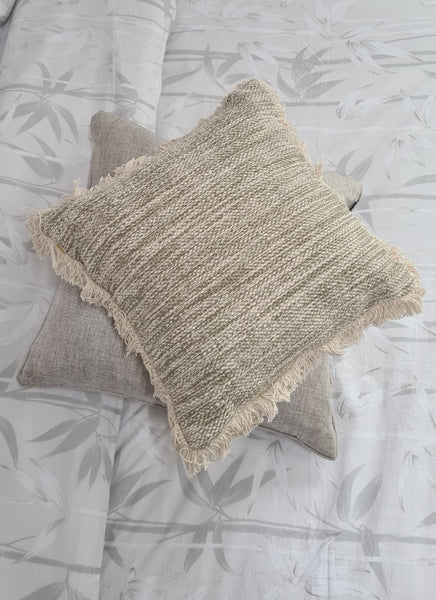 Orla Boho Cushion in Natural - 100% Cotton