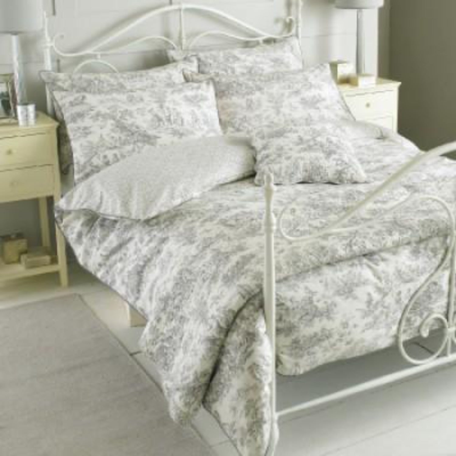 Toile French Bed Linen Set