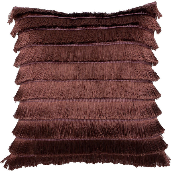 Flicker Fringed Cushion - Berry