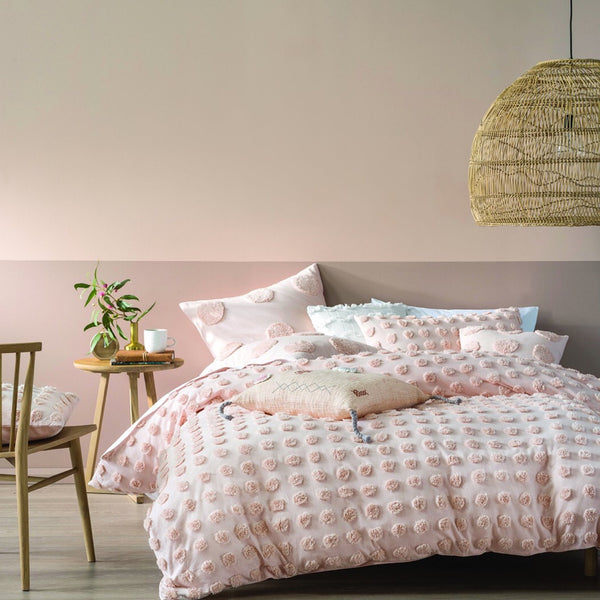 Haze Duvet Set by Linenhouse Austrailia in Peach