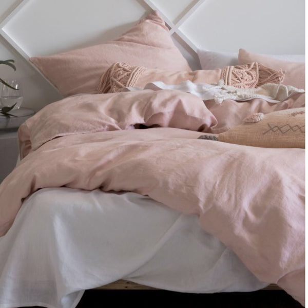 Linenhouse Australia Nimes Linen Bedding Set - Rose