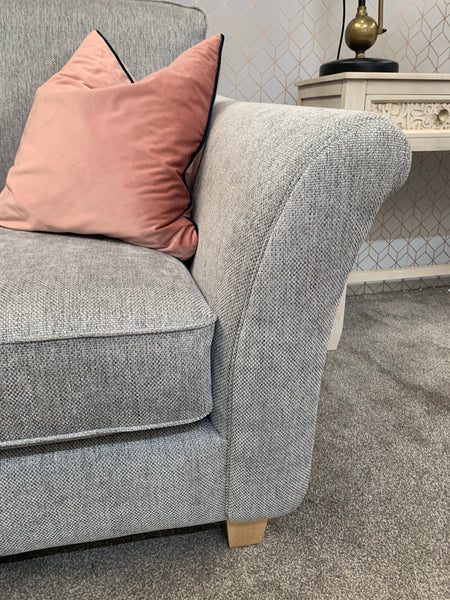 Silver Grey Compact 2 Seater Sofa - Express Delivery