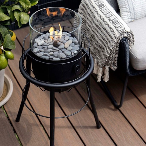 Cosiscoop Basket High Fire Lantern in Black
