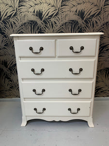 Ex Display Ivory Chantilly Chest of 5 Drawers - Express Delivery