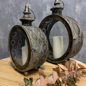 Mirana Collection Moroccan Inspired Porthole Lantern 2 Sizes - (Small, Large)