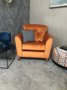 Ex Display Malo Armchair In Rust - Express Delivery