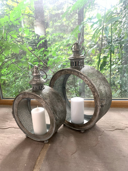 Moroccan Inspired Porthole Lanterns ( 2 Size Options)