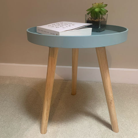 Riva Petite Round Scandi Side Table - Blue