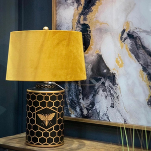 Betsy Bumble Table Lamp with Mustard Velvet Shade