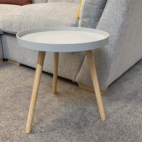 Riva Round Scandi Side Table - Grey