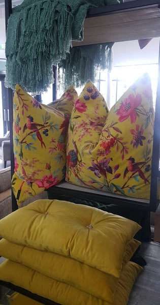 Paradise Cushion in Yellow