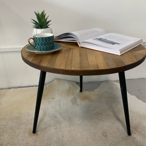 Solid Oak Side Table - Ex Display