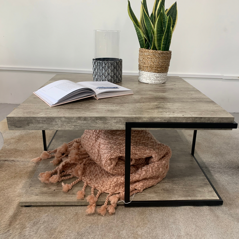 Jetson Collection Industrial Concrete Effect Coffee Table