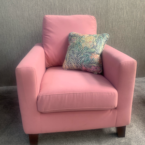 Flamingo Pink Bailey Collection Armchair - Limited Edition