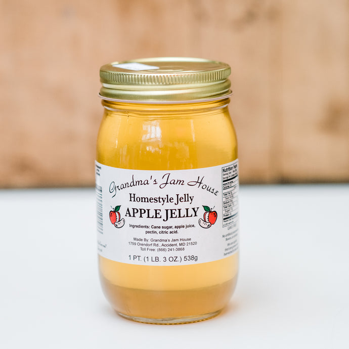 Homestyle Apple Jelly (16 oz)