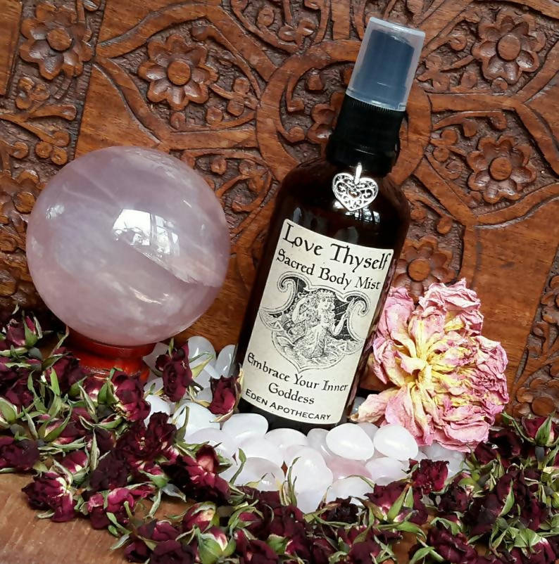 Love Thyself ~ Aromatic Crystal Alchemy ~ Sacred Body Mist ~ Embrace Your Inner Goddess