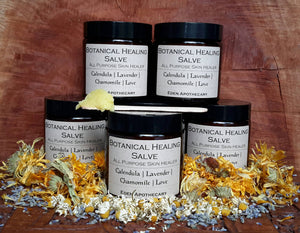 Botanical Healing Salve ~ Nourishing ~ All Purpose ~ Skin Healer | Own Grown Botanicals & Lunar Infusion | 120ml