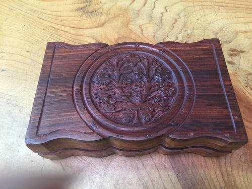 Carved Wooden Box
