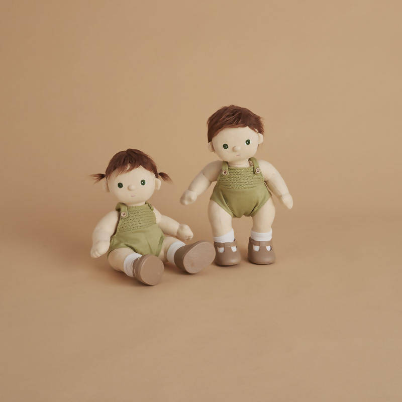 Olle Ella Doll in cream overalls