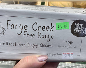 Forge Creek Free Range eggs