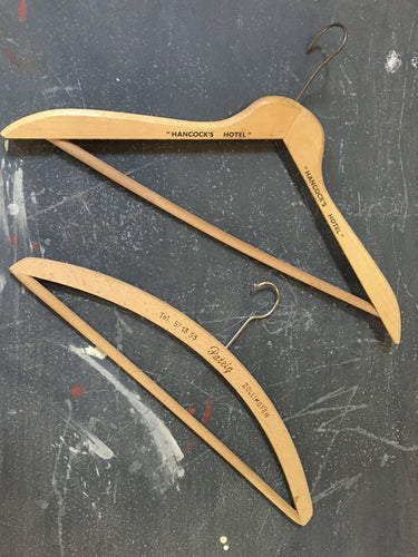Vintage coat hangers set of 2