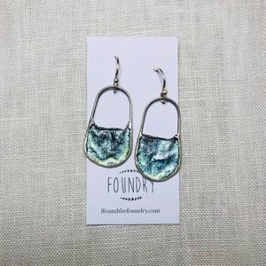 Recycled Silver Earrings / Jill Hermans