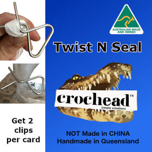 2 x Twist n Seal Bag Sealers gift for fire affected