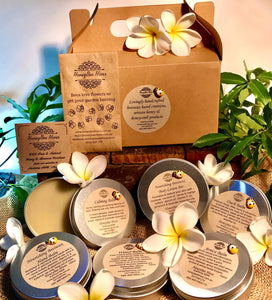 Deluxe beeswax-based balm gift box