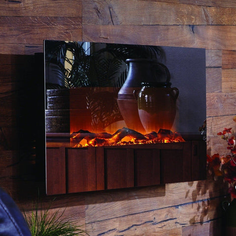 Touchstone Mirror Onyx Wall Mounted Electric Fireplace
