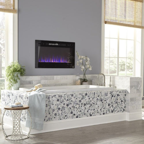 Beautiful Bathroom Fireplace - Touchstone Sideline 36