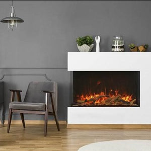Amantii 40-Inch Tru View 3-Sided Glass 14'' Depth Electric Fireplace, Contemporary | Very Good Fireplaces